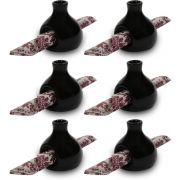 Conjunto Porta Guardanapos de Papel Tecido Vasinho Flores Luxo