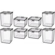 Conjunto Potes Herméticos 1,5 Litros e 0,75 Litros Cristal