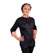 Dólmã Chef de Cozinha Feminina Cerejeira - Wp Connect