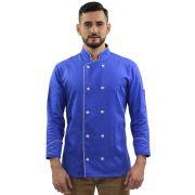 Dólmã Chef de Cozinha Azul Elegance