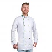 Dólmã Chef De Cozinha Brasileiro Patriota 100% Algodão - Wp Connect
