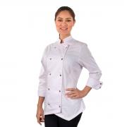 Dólmã Chef de Cozinha Feminino Com Detalhes Dourado - Wp