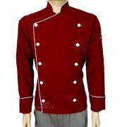 Dolma Chef de Cozinha  Vermelho/ branco Oxford