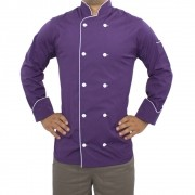 Dólmã Chef de Cozinha Roxo 100% algodão