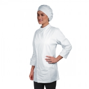 Dólmã Chef de Cozinha Universitário Unissex Branco - Wp Connect