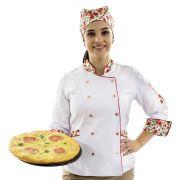 Dólmã Feminino Bandana Floral Chef de Cozinha