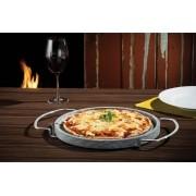 Forma Assadeira para Pizza em Pedra Sabão Redonda - 32,5Cm