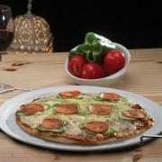 Forma para Pizza em Cerâmica Redonda Branca - 32Cm