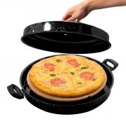 Forno Para Pizza Portátil Pedra Refratária Usar na Churrasqueira e Fogão - Wp Connect