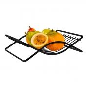 Fruteira de Mesa Preta Aço Piatina - Wp Connect