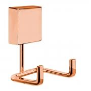 Gancho Cabide Duplo Toalheiro Fixação Por Parafusos Rosé Gold - Wp Connect