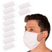 Kit 10 Máscaras de Proteção Tecido Duplo 100% Algodão Branca