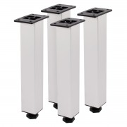 Kit 4 Pés Reguláveis Para Móveis em Alumínio 24cm Balcões