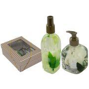 Kit Aroma Spray 300ml Sabonete Líquido 350ml Flores Brancas