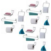 Kit Para Banheiro Fixação Parafuso 15 Peças Luxo Aço Inox