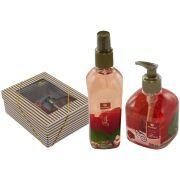Kit Spray Aromático Sabonete Líquido Fragrância Rosas Vermelhas