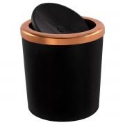 Lixeira 5 Litros Basculante Redonda Cobre Rosé Gold Luxo