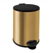 Lixeira de Pedal Dourada 12 Litros Aço Inox - Wp Connect