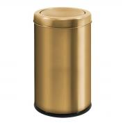 Lixeira Dourada 9,1 Litros em Aço Inox Tampa Basculante