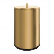 Lixeira Dourada 9,1 Litros em Aço Inox Tampa de Pegar