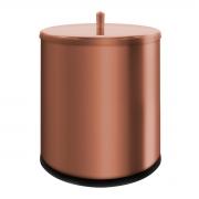 Lixeira em Aço Inox 6,3 Litros Cobre Tampa Pino