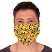 Máscara de Proteção Emojis Dupla Reutilizável 100% Algodão
