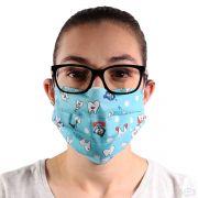 Máscara de Proteção Para Dentista Dupla Lavável 100% Algodão