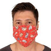 Máscara de Proteção Dupla Pet Shop Veterinário 100% Algodão Reutilizável