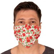 Máscara de Proteção Dupla 100% Algodão Estampa Floral
