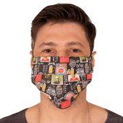Máscara de Proteção Estampa Cerveja Cervejaria Lavável