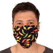 Máscara de Proteção Pimentinhas Tecido Duplo Reutilizável 100% Algodão