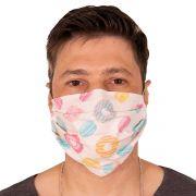 Máscara de Proteção Dupla Cupcake Confeitaria 100% Algodão