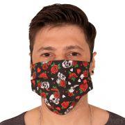 Máscara de Proteção Dupla Estampa Caveira 100% Algodão