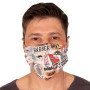 Máscara de Proteção Barbearia 100% Algodão Lavável