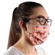 Máscara de Proteção Contra Bactérias Dupla Reutilizável 100% Algodão