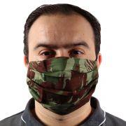 Máscara de Proteção Pandemia Reutilizável Camada Dupla 100% Algodão