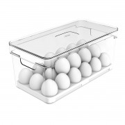 Bandeja Porta 36 Ovos de Geladeira em Acrílico Retangular