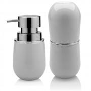 Organizadores Banheiro Porta Escova + Porta Sabonete Líquido