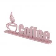 Palavra Decorativa Adorno Coffee em MDF Rose - Wp Connect
