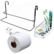 Papeleira de Banheiro Porta Escovas Toalheiro de Box