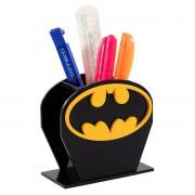 Porta Canetas Batman em MDF Super Heróis DC Presente Geek
