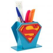 Porta Canetas de Mesa Super Heróis DC Superman Presente Geek