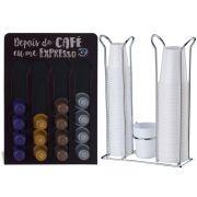 Porta Cápsulas Café Nespresso Suporte de Copos 50/80ml e 200ml