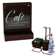 Porta Cápsulas de Café Nespresso Organizador Porta Sachês Adoçante