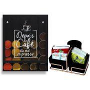 Porta Cápsulas de Café Universal Organizador de Sachês Rosé Gold