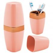 Porta Escova de Dente Creme Dental Banheiro Rosé Gold