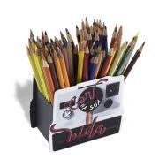 Porta Lápis Caneta Organizador de Mesa Escritório Mais Cor