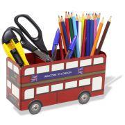 Porta Lápis Caneta Organizador de Mesa Ônibus Londres