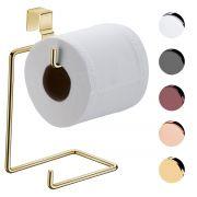Porta Papel Higiênico Duplo Para Caixa Acoplada Suporte Luxo em Aço