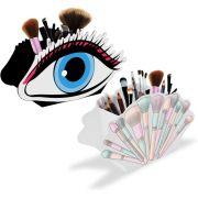 Porta Pincéis de Maquiagem Conjunto Display Intensa Olho Azul